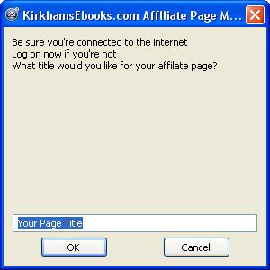 Affiliate Page Maker for Clickbank screenshot
